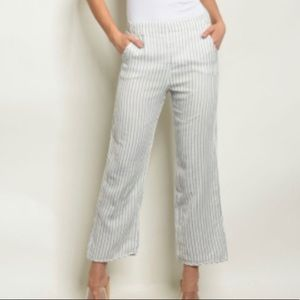 5 for $25  dee elly Striped Cropped Pants